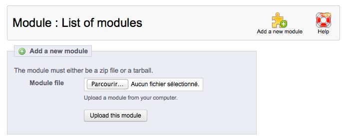 prestashop ezako module upload screenshot